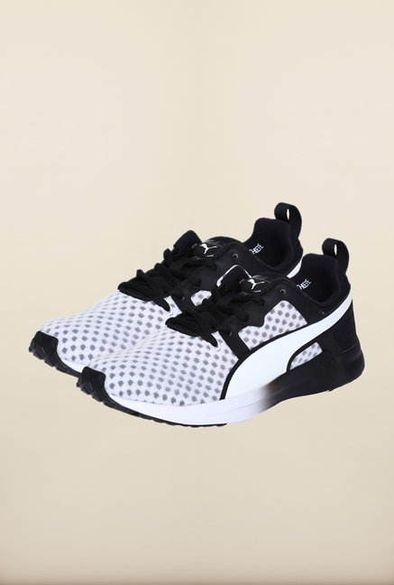 Puma White & Black Training Shoes