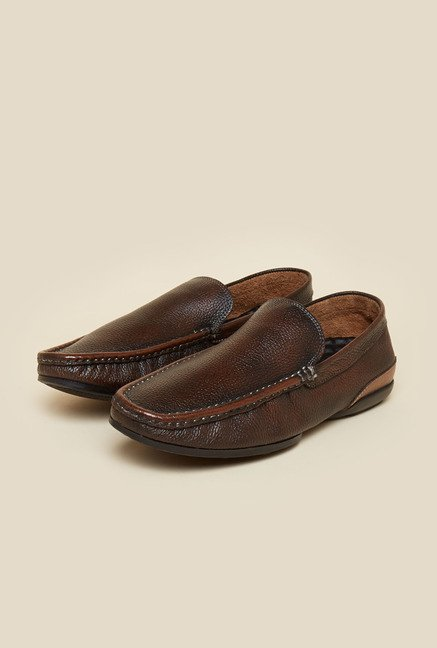 Privo by Inc.5 Brown Leather Casual Loafers