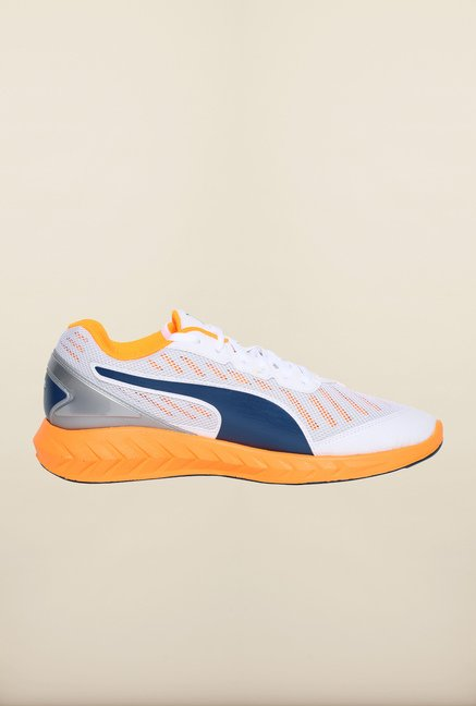 Puma Ignite White & Orange Pop Running Shoes