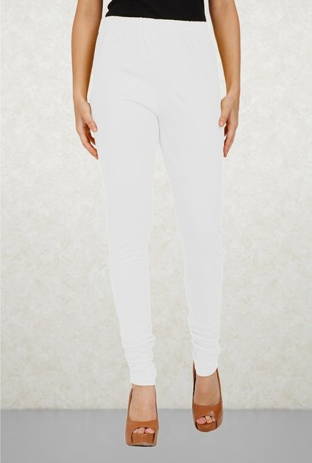 Aurelia White Cotton Leggings