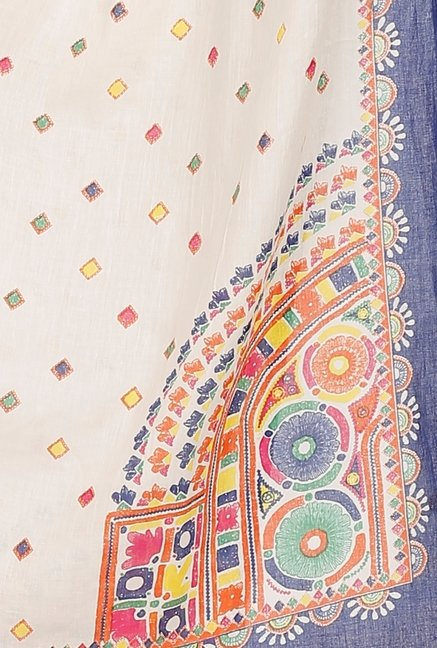 Aurelia White Cotton Dupatta