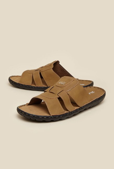 Zudio Tan Slide Sandals
