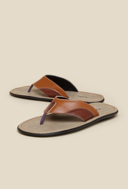 Zudio Tan Thong Strap Sandals
