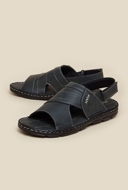 Zudio Grey Back Strap Sandals