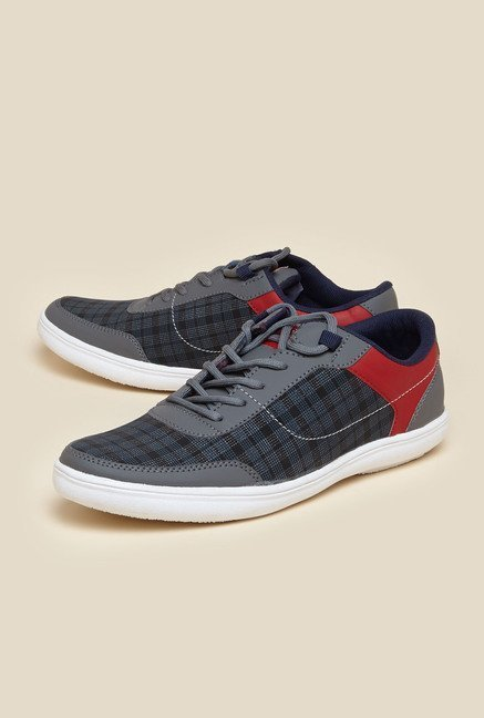 Zudio Grey Sneaker Shoes