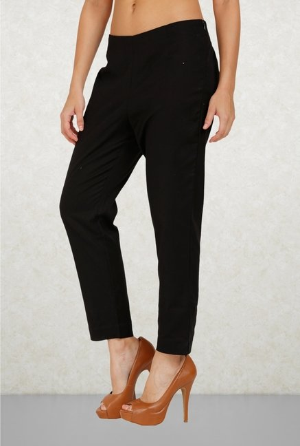 Aurelia Black Solid Trouser