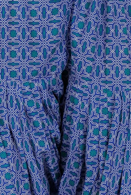 Aurelia Blue Printed Patiala