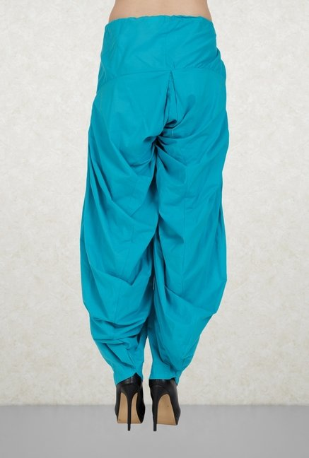 Aurelia Blue Solid Patiala