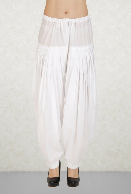 Aurelia White Solid Patiala
