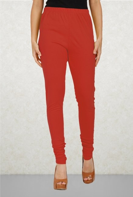 Aurelia Red Solid Leggings