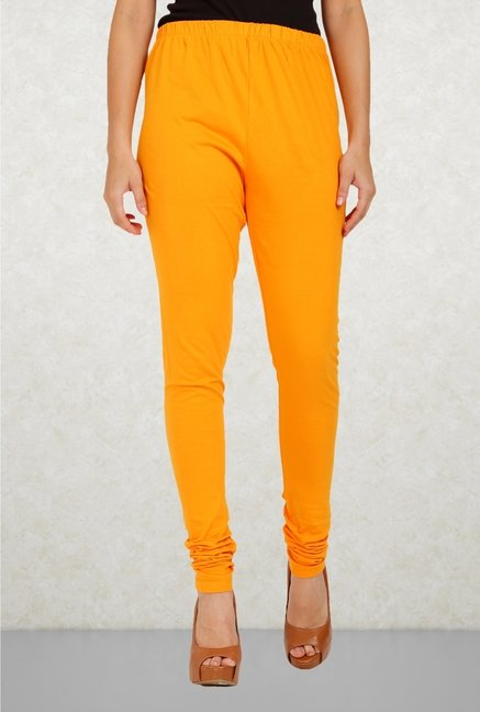 Aurelia Orange Solid Leggings