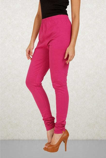 Aurelia Pink Solid Leggings