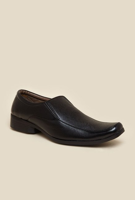 Zudio Black Slip-On Formal Shoes