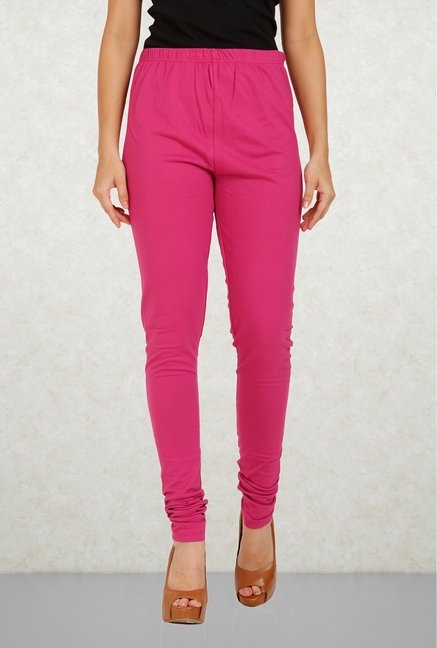 Aurelia Pink Cotton Leggings