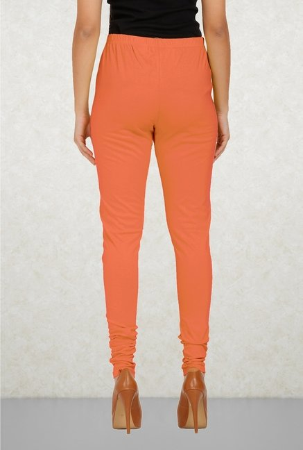 Aurelia Peach Solid Leggings