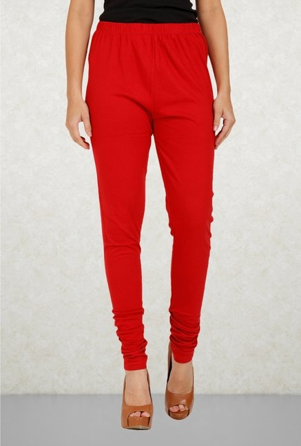 Aurelia Red Cotton Leggings
