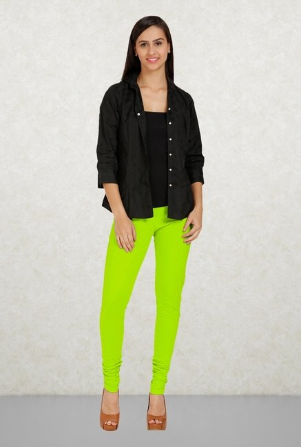 Aurelia Green Solid Leggings