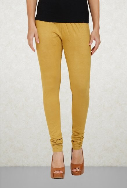 Aurelia Khaki Solid Leggings