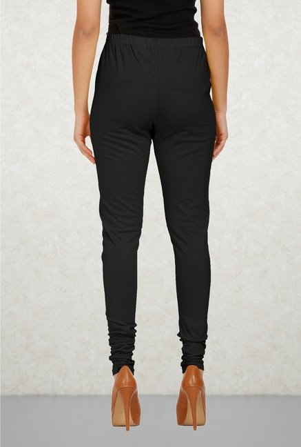 Aurelia Black Solid Leggings