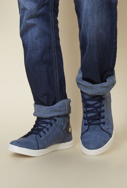 Zudio Blue Lace Up Shoes