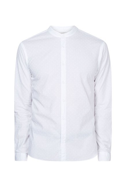 celio* White Solid Shirt