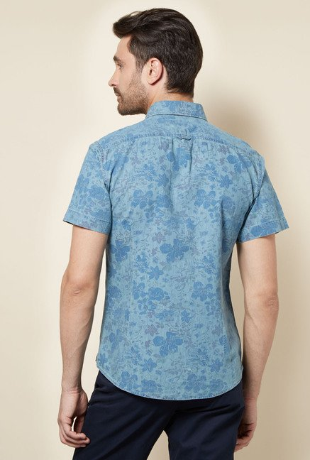 celio* Blue Printed Shirt