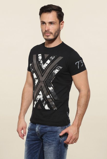 Pepe Jeans Black Graphic Print T Shirt
