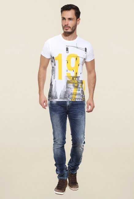 Pepe Jeans White Printed T Shirt