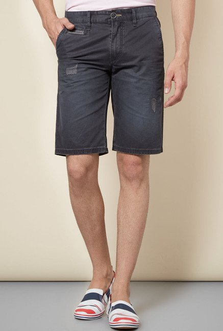 celio* Grey Distressed Shorts