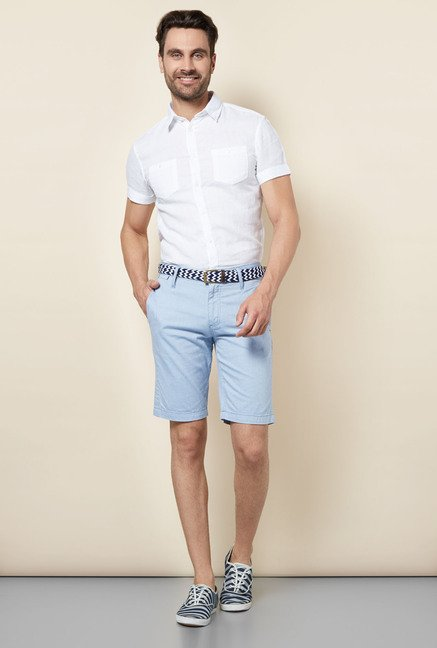 celio* Blue Solid Shorts