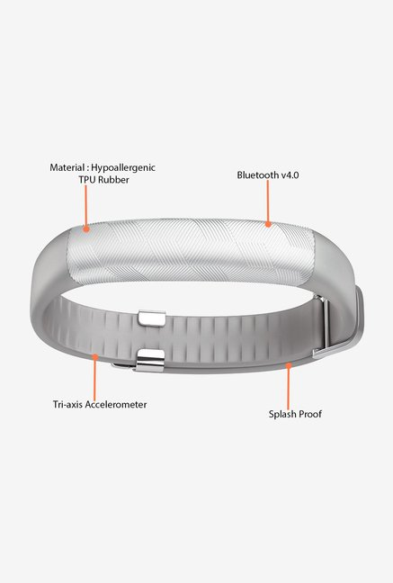 Jawbone UP2 Flat Strap Activity Tracker (Light Grey Hex)