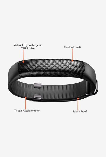 Jawbone UP2 Flat Strap Activity Tracker (Black Diamond)