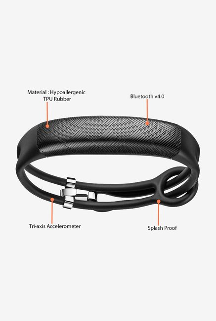 Jawbone UP2 Thin Strap Activity Tracker (Black Diamond)