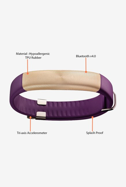 Jawbone UP2 Flat Strap Activity Tracker (Violet Circle)