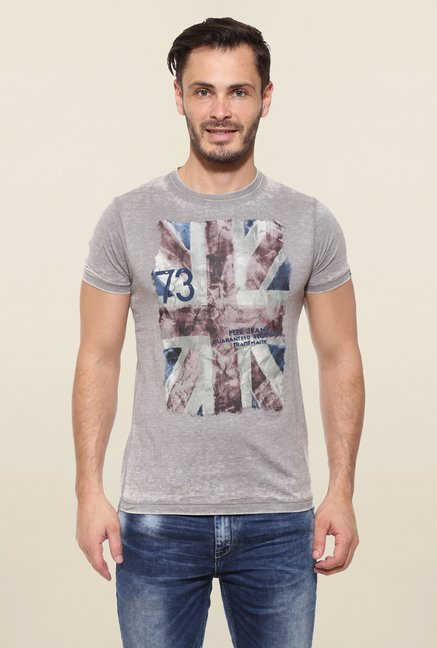 Pepe Jeans Grey Printed T Shirt