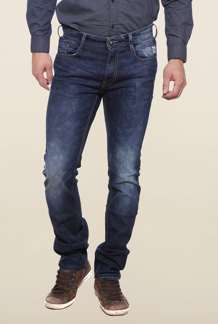 Pepe Jeans Navy Lightly Washed Solid Jeans