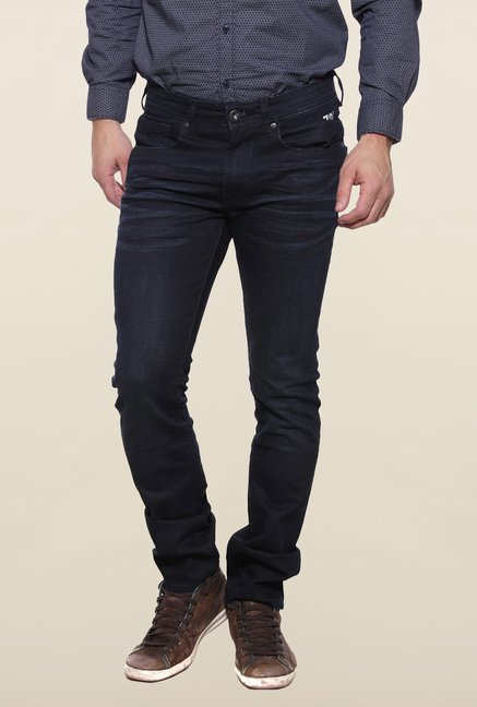 Pepe Jeans Navy Rinse Washed Solid Jeans