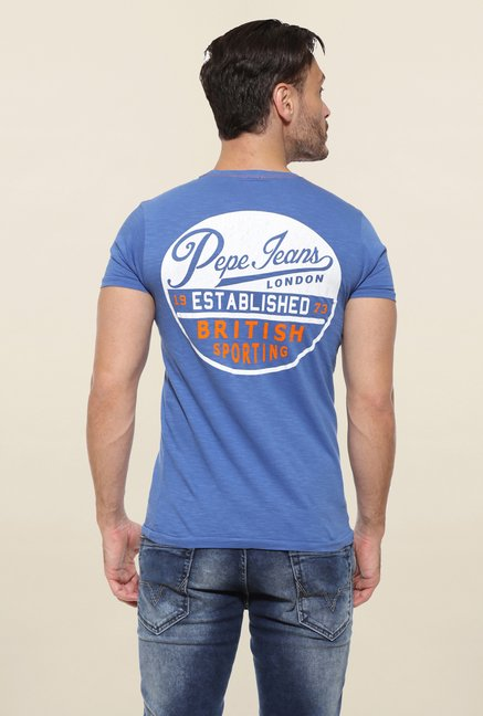 Pepe Jeans Blue Solid T Shirt