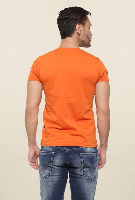 Pepe Jeans Orange Printed T Shirt