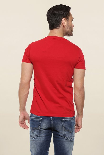 Pepe Jeans Red Printed T Shirt