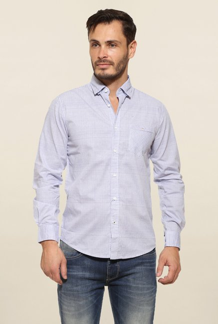 Pepe Jeans Blue Checks Casual Shirt