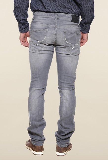 Pepe Jeans Grey Heavily Washed Distressed Jeans