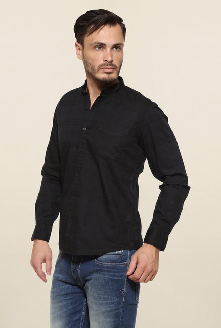 Pepe Jeans Black Checks Casual Shirt