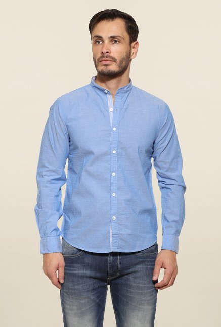 Pepe Jeans Blue Striped Casual Shirt