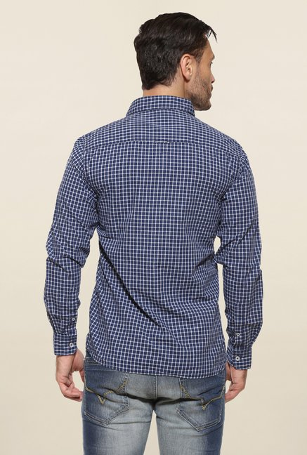 Pepe Jeans Navy Checks Casual Shirt