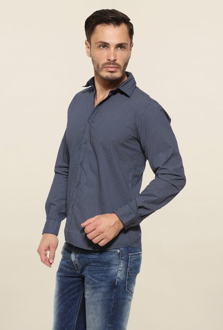 Pepe Jeans Navy Cotton Casual Shirt