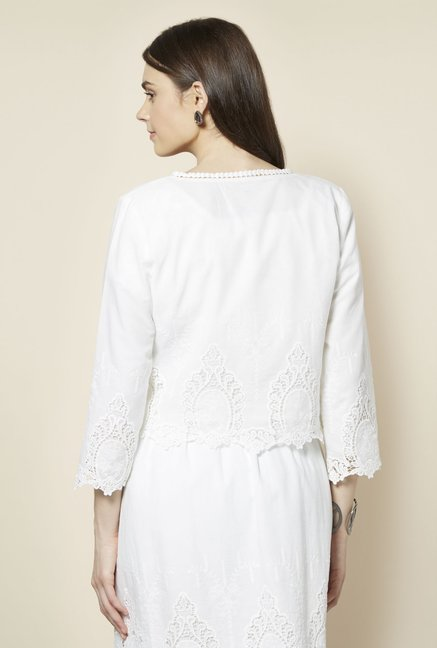 FG-4 White Lace Shrug