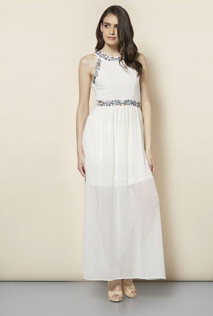 FG-4 White Camden Marlie Maxi Dress