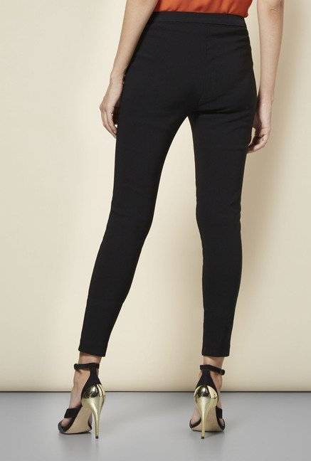 New Look Black Bengaline Slim Fit Trousers