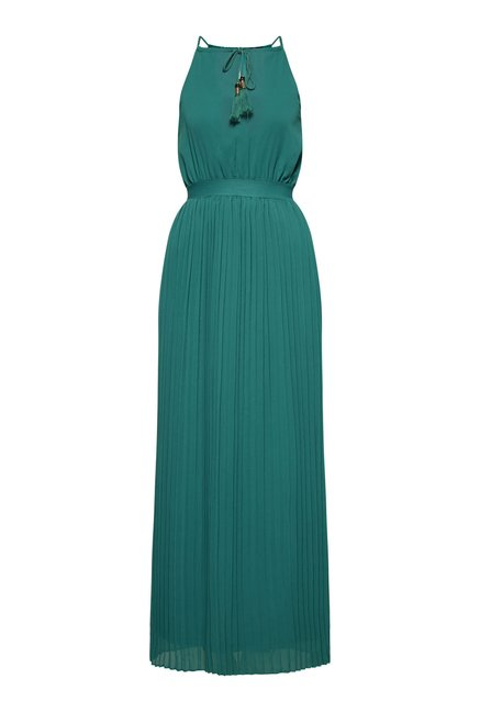 FG-4 Green Candy Pleated Maxi Dress